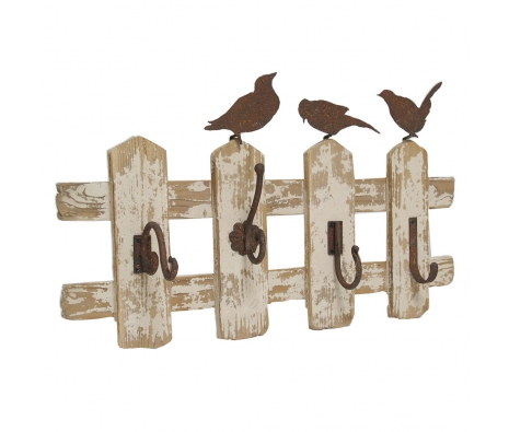 "15.25"" Rustic Wall Hooks made by Import Collection ."