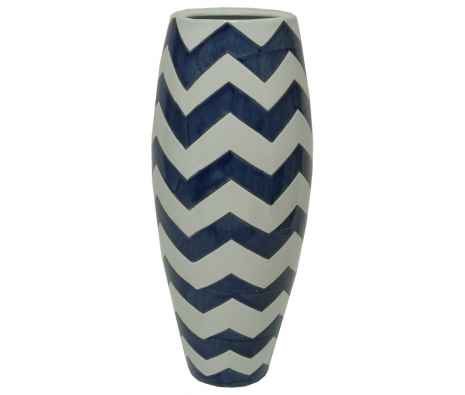 Bains Zig Zag Vase made by Chic & Classic Accents by Import Collection .