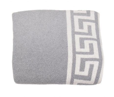 Eco-Friendly Greek Key Throw, Smoke made by Throw Blankets.