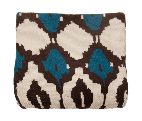 Eco-Friendly Ikat Throw, Teal made by Throw Blankets.