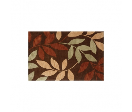 5' x 8' Attingal, Dark Brown made by Indoor/Outdoor Rugs .