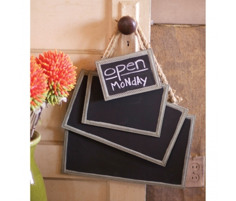 Framed Chalkboards with Jute Hangers, Set of 4 made by Charming Accessories For Any Space.