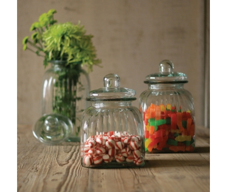 Square Glass Canisters, Set of 3 made by Charming Accessories For Any Space.