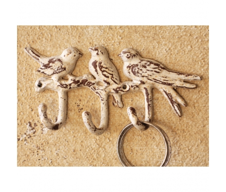 Distressed Cast Iron Bird Hanger made by Charming Accessories For Any Space.