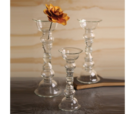 Reversible Vase and Candle Holders, Set of 3 made by Charming Rustic Accents.