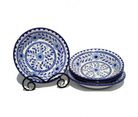 Azoura Salad Bowls, Set of 4 made by Le Souk Ceramique.