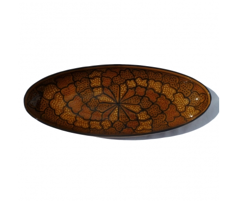 Honey Extra Large Oval Platter made by Le Souk Ceramique.