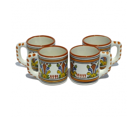 Sauvage Coffee Mugs, Set of 4 made by Le Souk Ceramique.