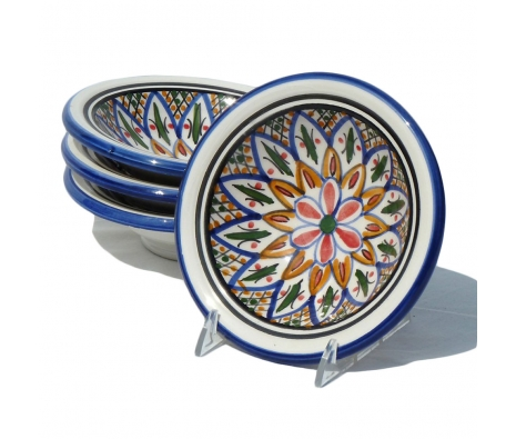 Tabarka Round Sauce Dishes, Set of 4 made by Le Souk Ceramique.