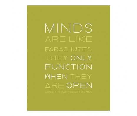 An Open Mind Print made by Logophilia .