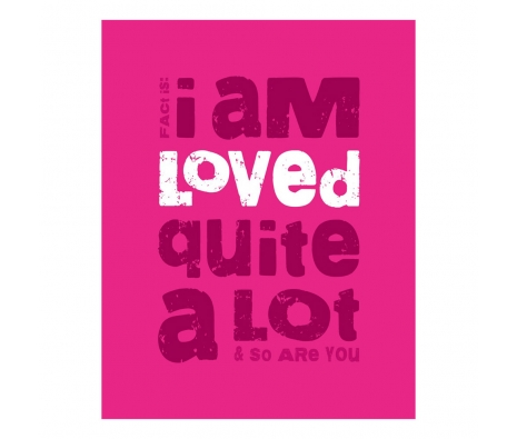 Loved A Lot Print, Pink made by Logophilia .