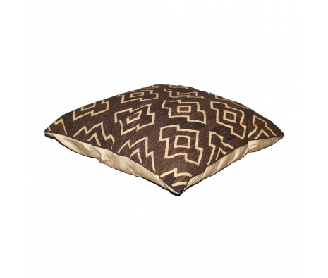 Herati Kilim Floor Pillow, Chocolate made by Turkish Inspired Kilims, Baskets & More.