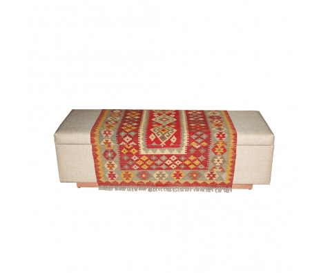 Damurda Kilim Linen Chest made by Turkish Inspired Kilims, Baskets & More.