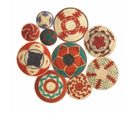 Woven Balay Bowls, Set of 10  made by Turkish Inspired Kilims, Baskets & More.