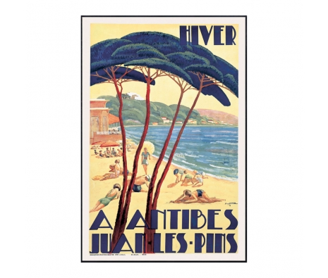 Antibes/Hiver, ca. 1930  made by Vintage Posters From Around The World.
