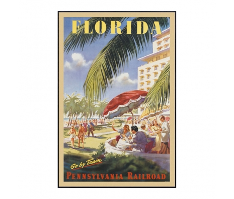 Florida Go by Train  made by Vintage Posters From Around The World.