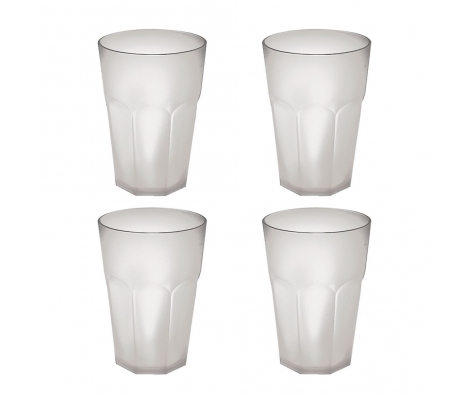 S/4 Tall Glasses, White made by Cheerful Culinary Finds Under $50 .