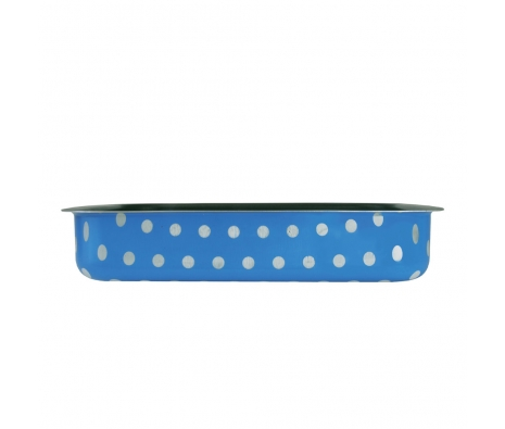 "12"" x 9"" Blue Polka Dot Baking Mold  made by Cheerful Culinary Finds Under $50 ."