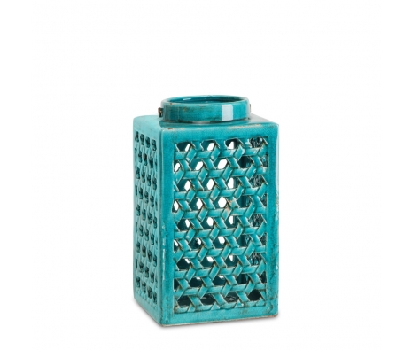 Glossy Chatham Lantern, Aqua made by Textured Arts & Accents .