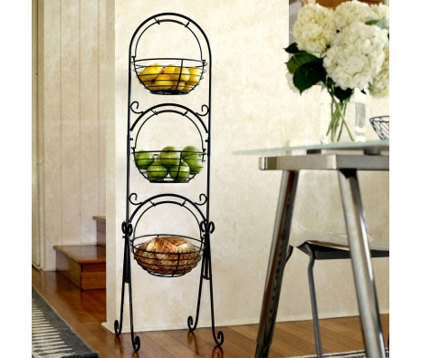 3-Tier Floor Standing Basket made by Mesa Home.