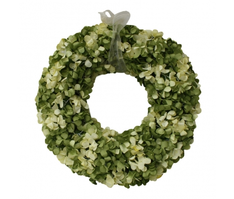 "15"" Benton Hydrangea Wreath, Yellow/Green made by Mills Floral ."