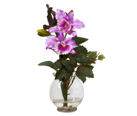 Mini Cattleya Arrangement, Lavender made by Summertime Florals .
