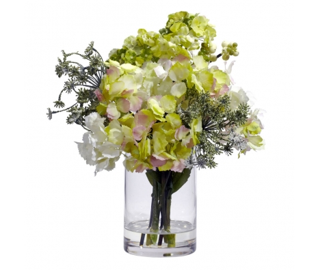 Silk Hydrangea Arrangement made by Nearly Natural.