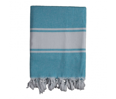 Classic Turkish Fouta Towel, Blue made by Turkish Towels.