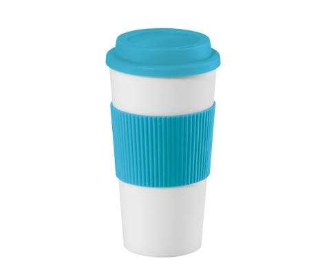 16 oz. Double Wall Travel Mug, Set of 2, Aqua made by Drinks On The Go .