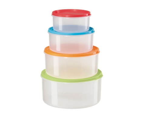 Round Storage 4 Pc. Set made by Colorful Kitchen .
