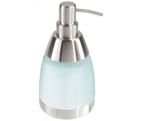 Stainless Steel & Acrylic Bell Soap Dispenser made by Bath Essentials by Oggi .