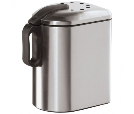 Stainless Steel Countertop Compost Pail with Charcoal Filter made by Bath Essentials by Oggi .
