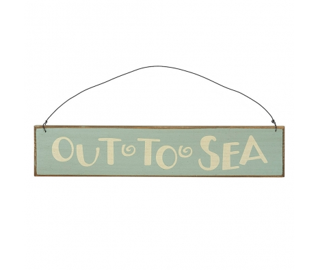 Out To Sea Sign made by Beach Waves.