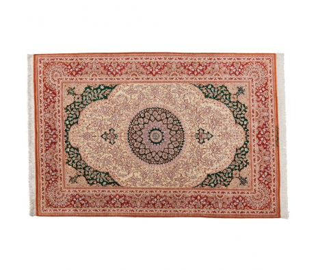 "Persian Qum Silk, 3' 3"" x 4' 9"" made by Persian Rug Bazaar ."