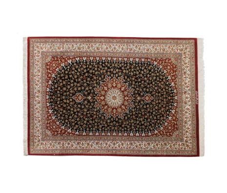 "Persian Qum Silk, 3' 3"" x 4' 8"" made by Persian Rug Bazaar ."