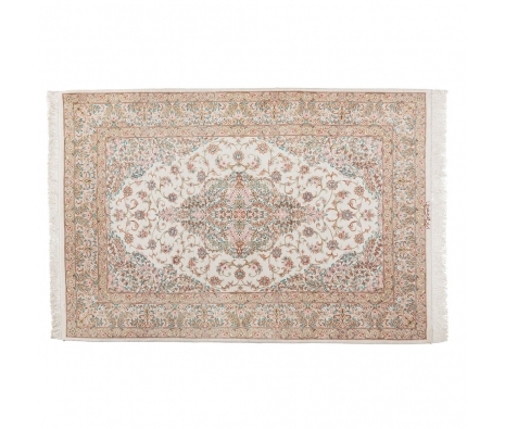 "Persian Qum Silk, 3' 4"" x 4' 11"" made by Persian Rug Bazaar ."