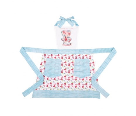 A Little Rest Apron, Blue made by The Couture Chef.