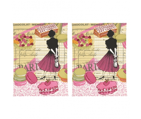 Patisserie Kitchen Towel, Set of 2 made by The Couture Chef.