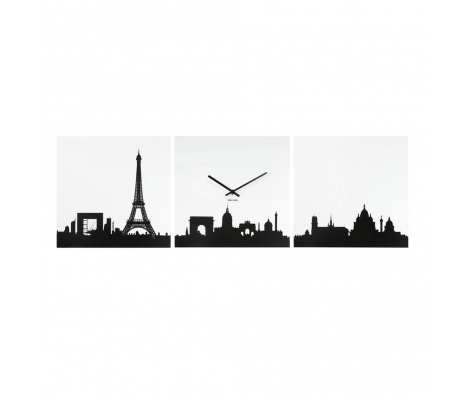 Parisian Viewing Clock, Black/White made by Present Time .