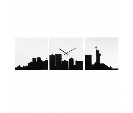 NYC City View Clock, Black/White made by Modern Wall Clocks .