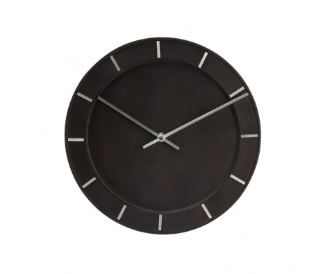 Eberson Circle Clock, Black  made by Modern Wall Clocks .