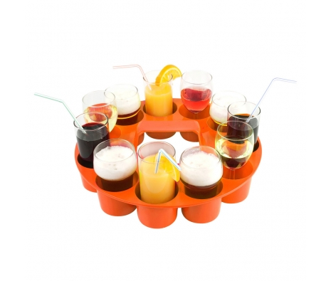 Sombrero Drink Tray, Orange  made by Present Time .