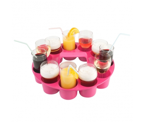 Pink Sombrero Drink Tray  made by Summertime Entertaining .