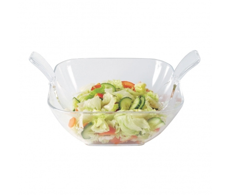 Serves Up Salad Bowl with Server made by Summertime Entertaining .