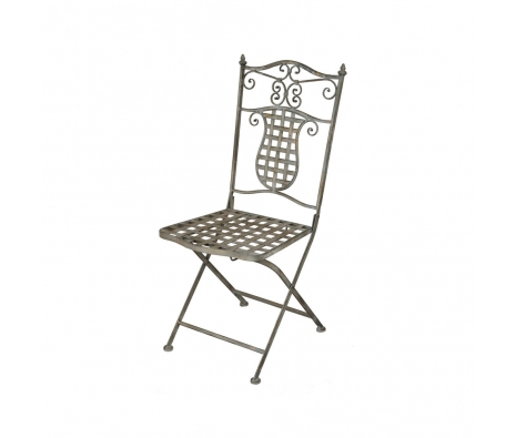 "39"" Bistro Folding Chair Grey Wash made by Alfresco Bistro."