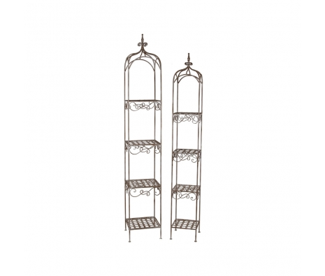 2-Piece 4-Tier Iron Rack made by Alfresco Bistro.