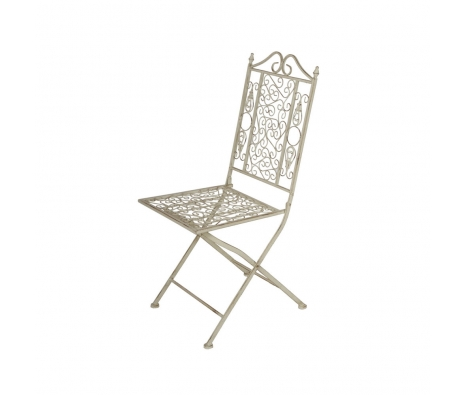 Cher Folding Chairs, Iron White made by Alfresco Bistro.
