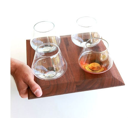 Cupa-Rocks Whiskey Tumbler & 4-Tray Cupa-Lift made by Sempli .