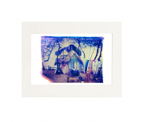 "11""x14"" Surf Hut, Polaroid Print made by She Hit PaUSAe Studios ."