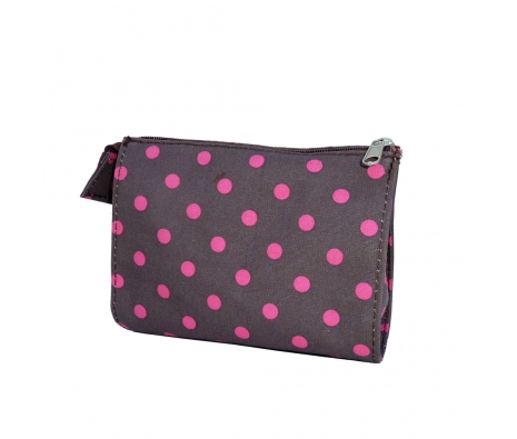 Large Cosmetic Bag, Dotted made by Patterned Travel Gear .